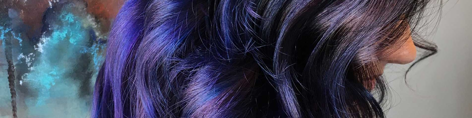 Blue and violet Hair