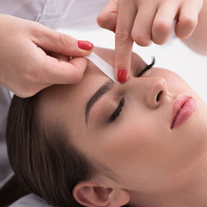 Eye brow waxing