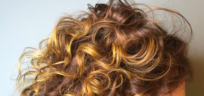 Highlight curly texture hair